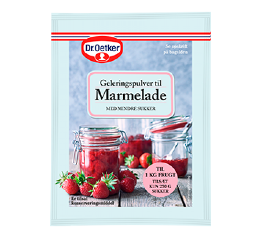 Geleringspulver til Marmelade, 20 g, Dr. Oetker.