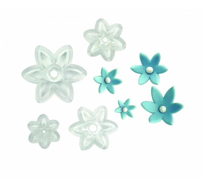 Six Petal Daisy - Set of 4
