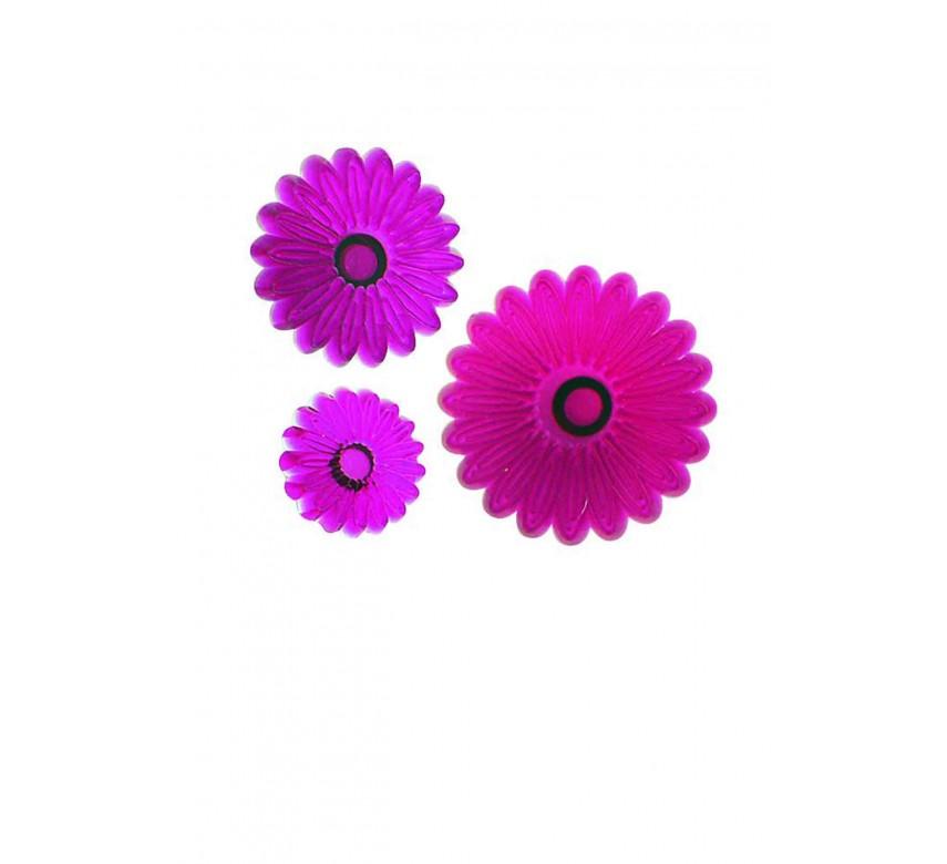 Small Multi Petal Daisy Gerbera - Set of 3