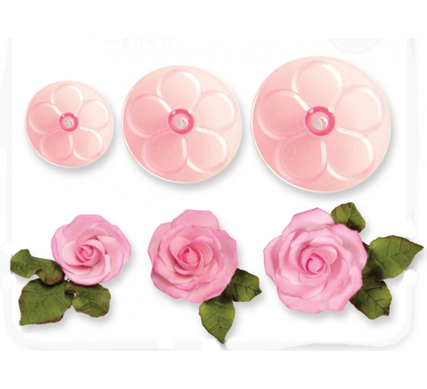 Easy Rose Cutters - Set of 3
