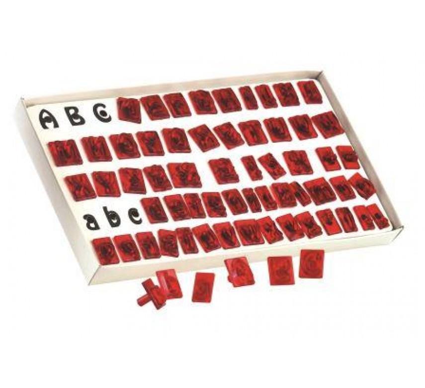 Alfabet sæt med 64 bokstaver.