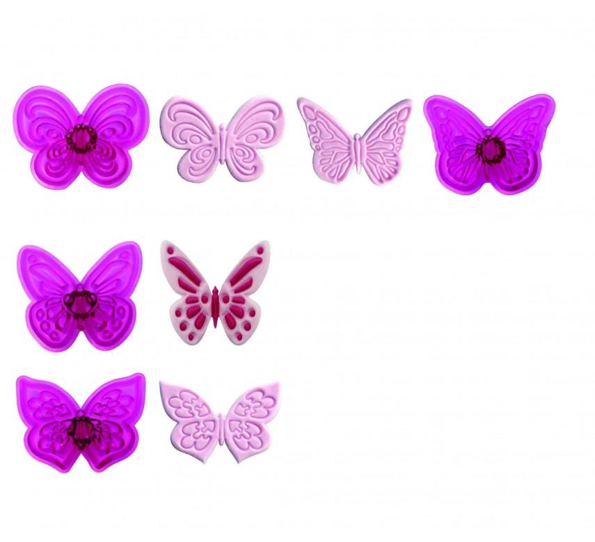 Lacy Butterflies - Set of 4