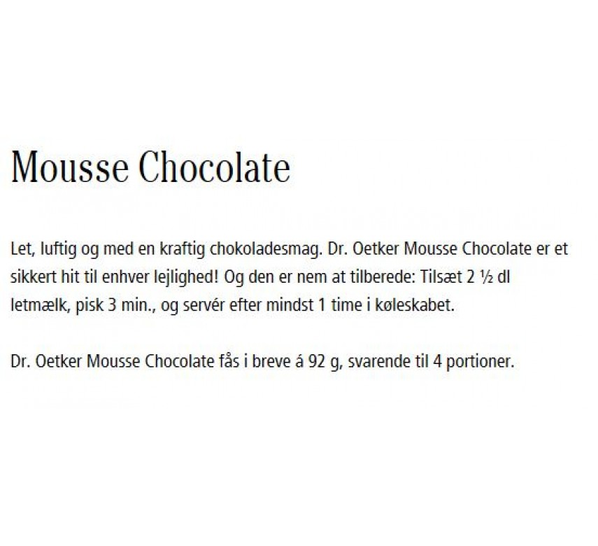 Mousse Chocolate, Dr. Oetker-0
