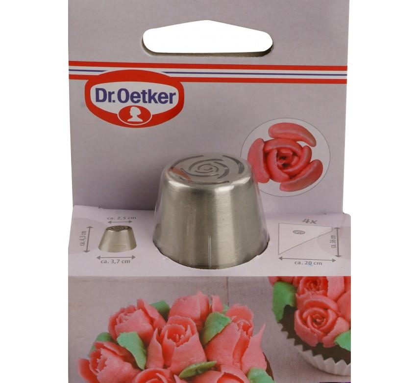 """Tylle """"Rose"""" med 4 stk. engangs-sprøjteposer. Dr. Oetker"""