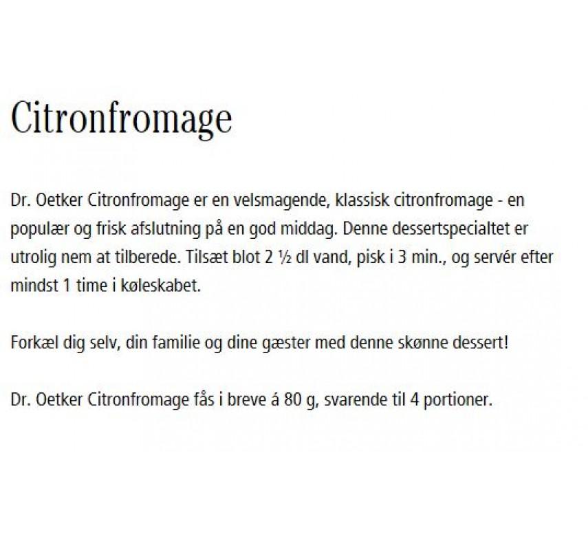 Citronfromage, Dr. Oetker-0