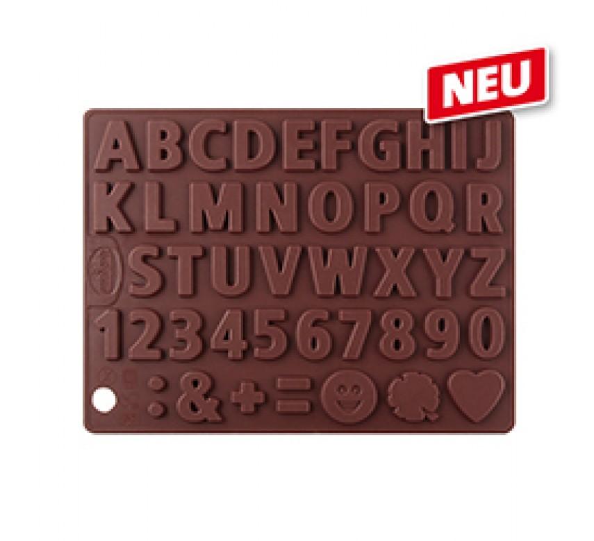 Chokoladeform silikone, tal og bogstaver, Dr. Oetker