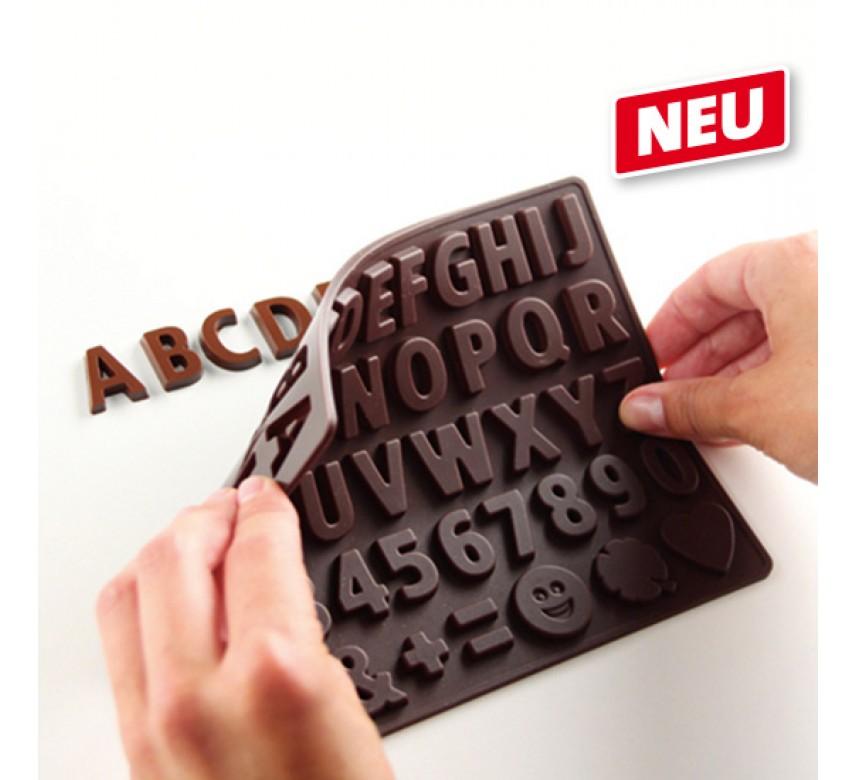 Chokoladeform silikone, tal og bogstaver, Dr. Oetker-0