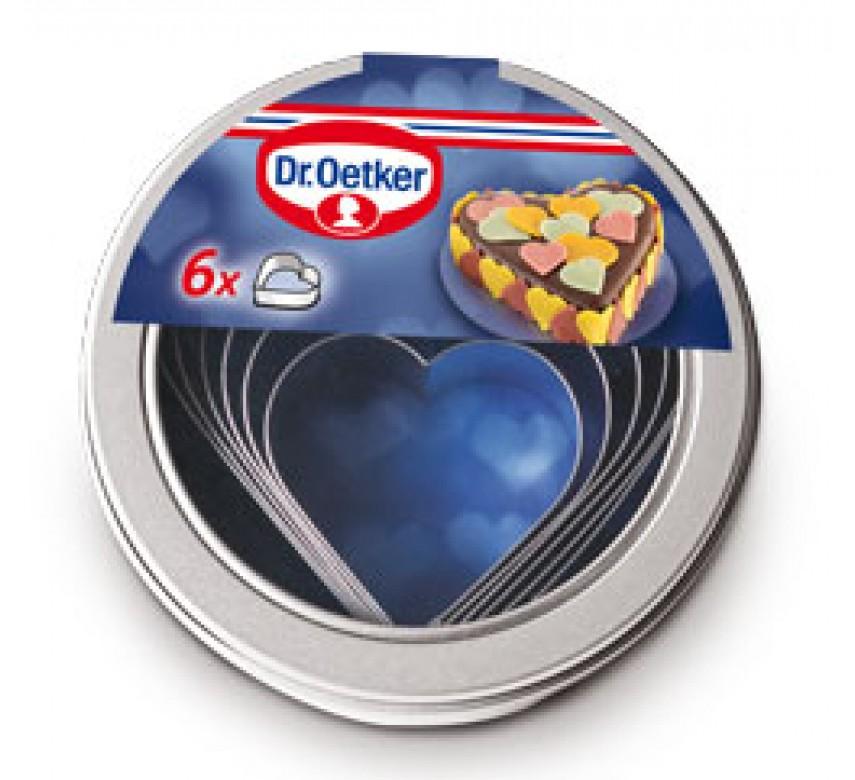 Udstiksforme med hjerter i 6 størrelser, Dr. Oetker