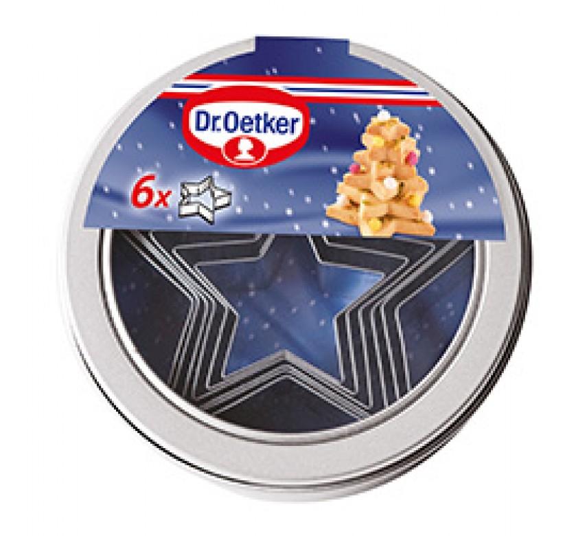Udstiksforme med stjerner i 6 størrelser, Dr. Oetker