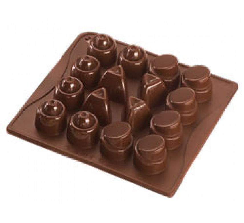 Chokoladeform silikone, 16 stk, Dr. Oetker
