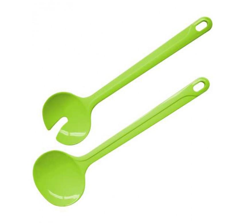 Salatbestik i limegrønt, 30 cm, Fackelmann