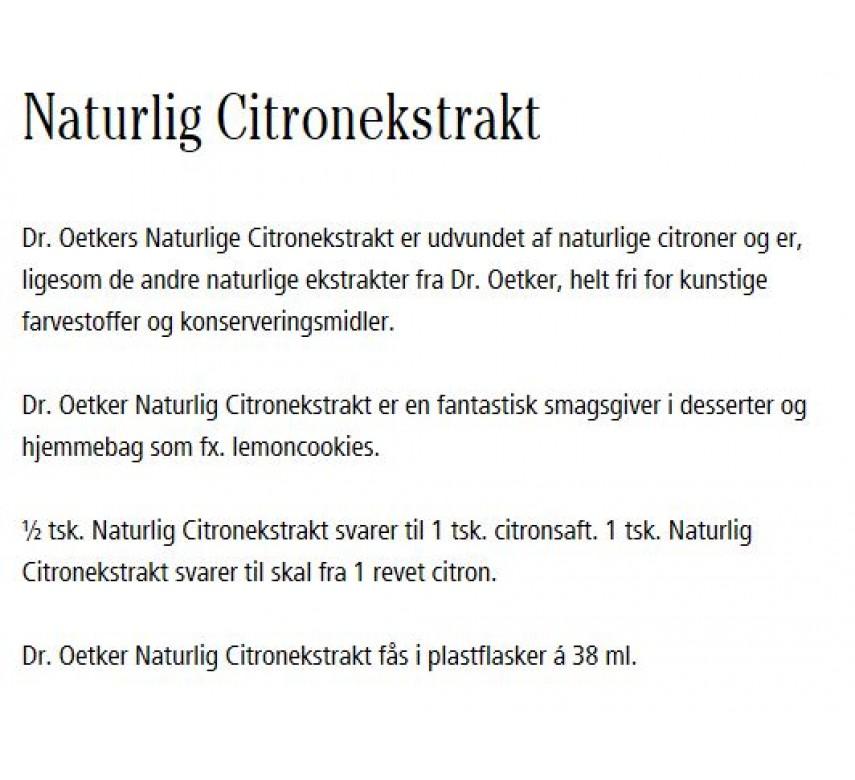 Citronekstrakt, naturlig, Dr. Oetker-0