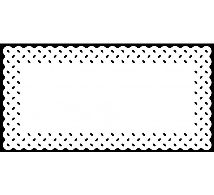 Kage- /tærtepapir, rektangulær, hvid, 15 stk.
