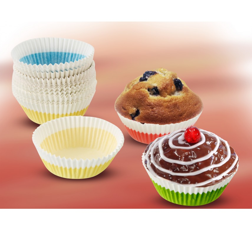 Muffinsforme, kulørte, 100 stk.-00
