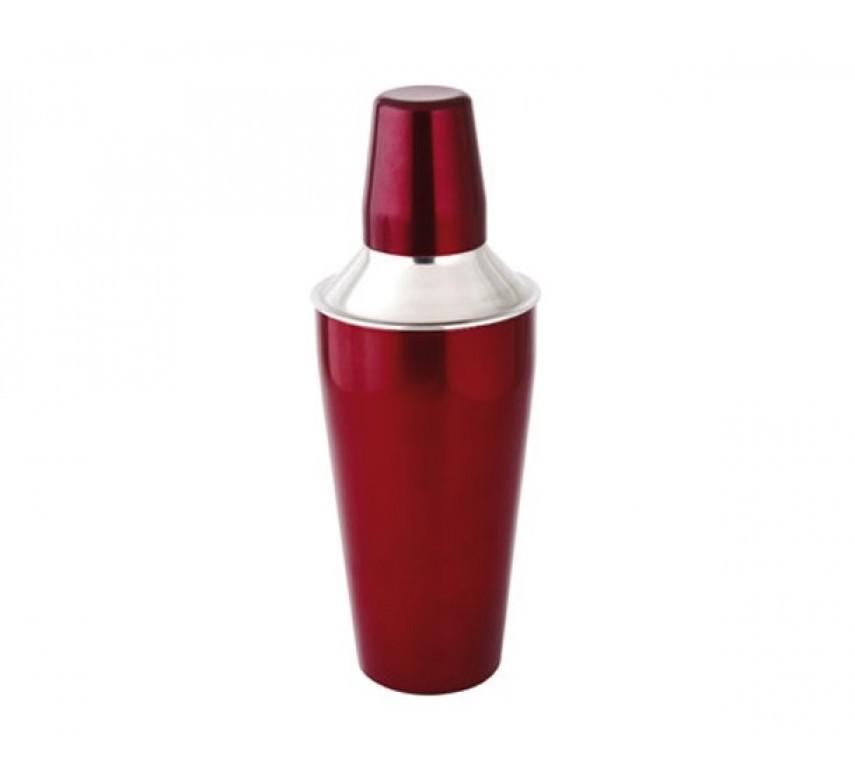 Cocktail-Shaker 3 delt 26 cm rød metallic