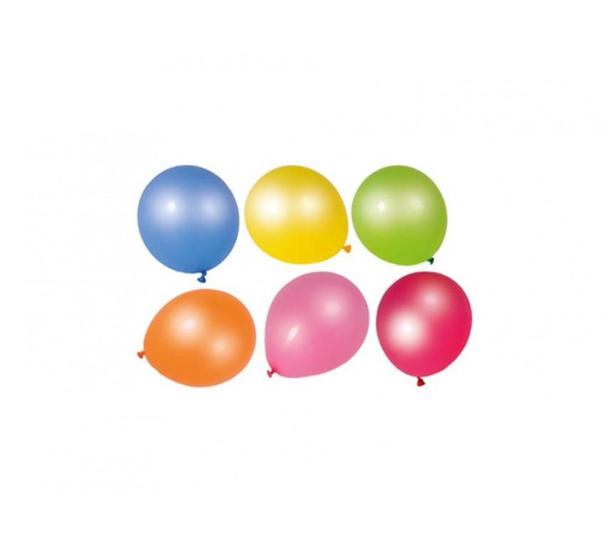 Balloner latex alm. form blandede farver 2 ca. 30 cm 10 ca.23 cm