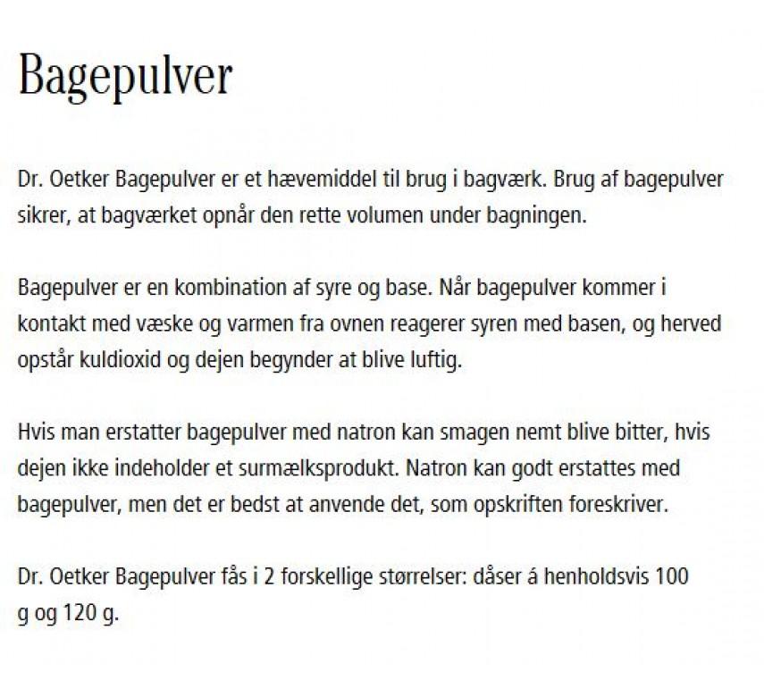 Dr. Oetker Bagepulver, 120 g-0
