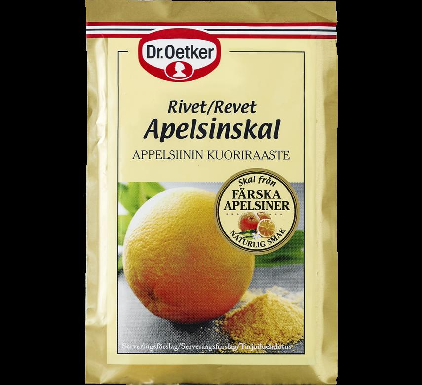 Appelsinskal, revet, Dr. Oetker*