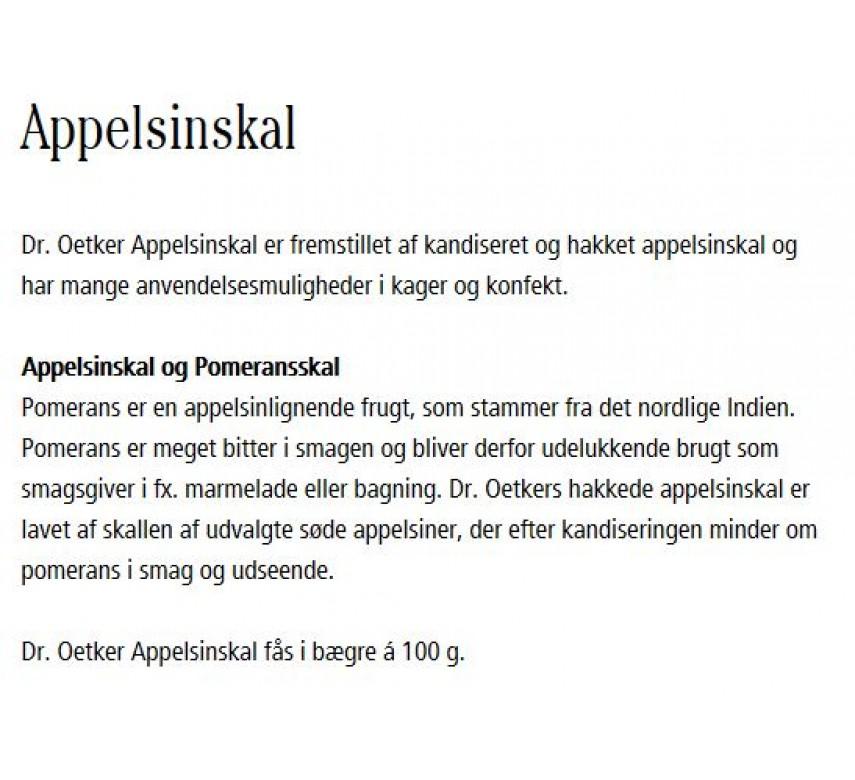 Appelsinskal, Dr. Oetker-0