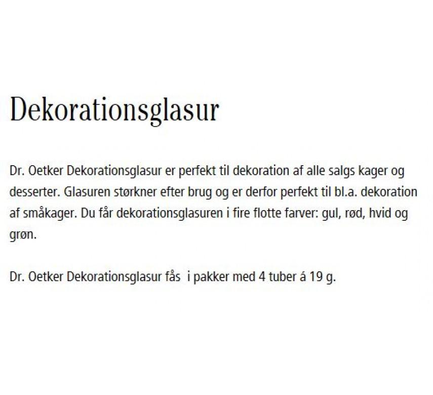 Dekorationsglasur, Dr. Oetker Nedsat pga bedst før dato 31.10.2020-00