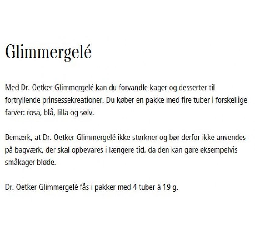 Dr. Oetker Glimmergelé-0
