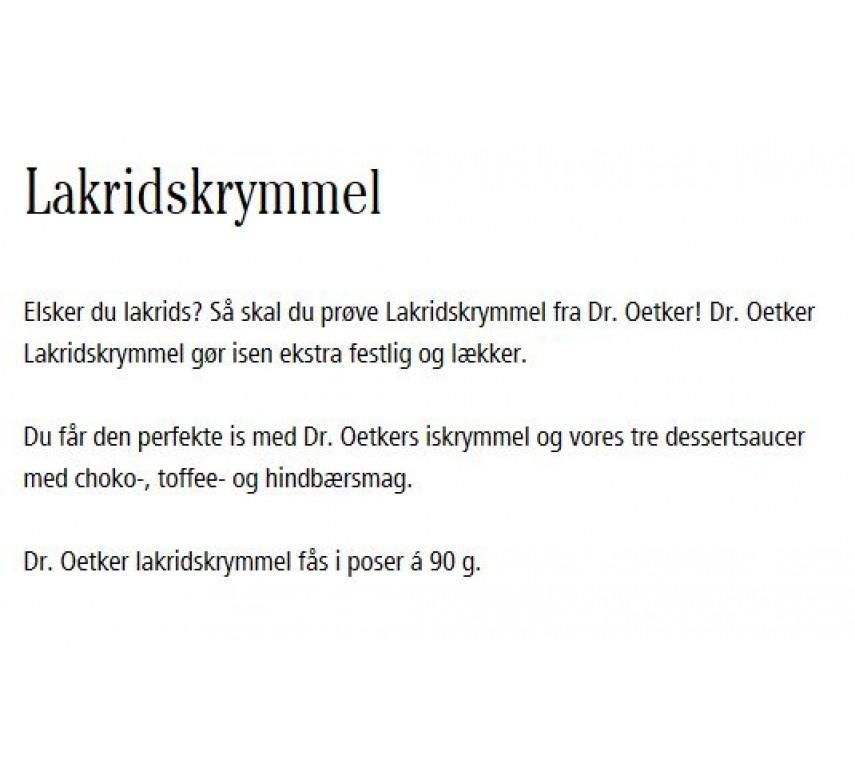 Dr. Oetker Lakridskrymmel-0