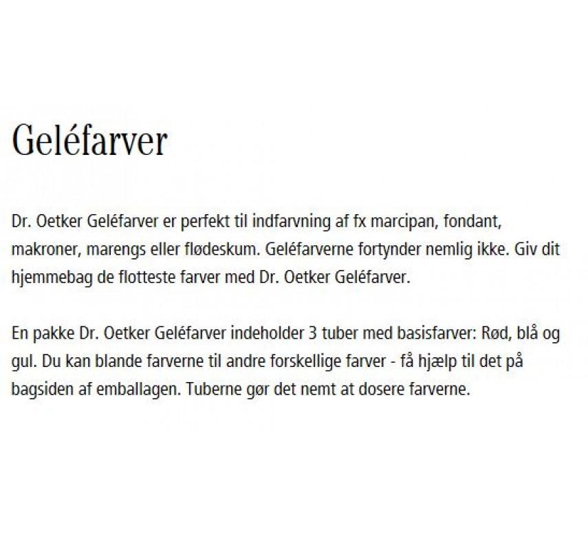 Geléfarver, Dr. Oetker*-0