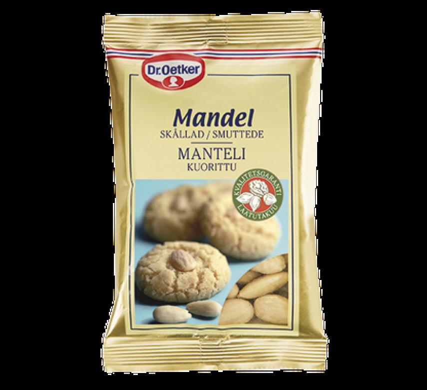 Mandler, smuttede, Dr. Oetker.