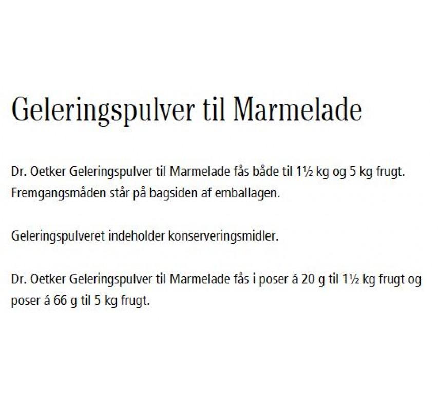Geleringspulver til Marmelade, 66 g, Dr. Oetker.-0