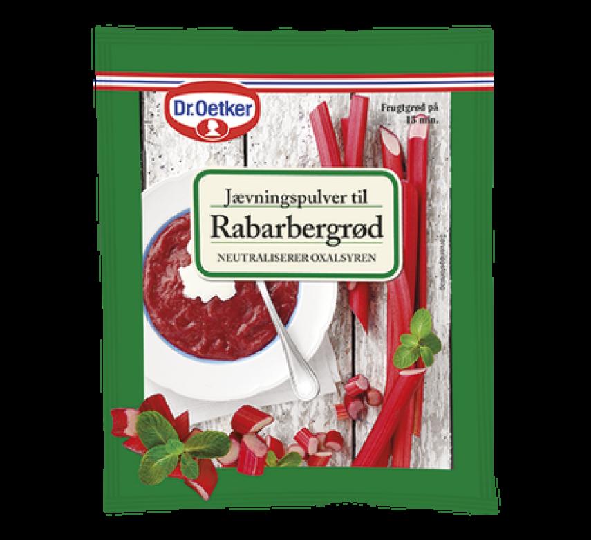 Jævningspulver til Rabarbergrød, Dr. Oetker