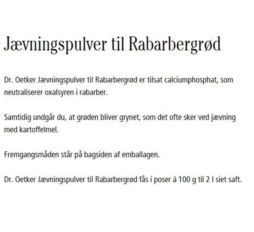 Jævningspulver til Rabarbergrød, Dr. Oetker-0