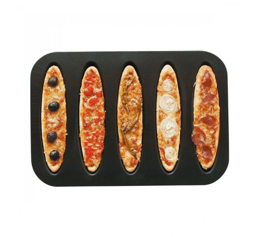 Bageplade til 5 stk tærter, brød eller pizzaer, Zenker
