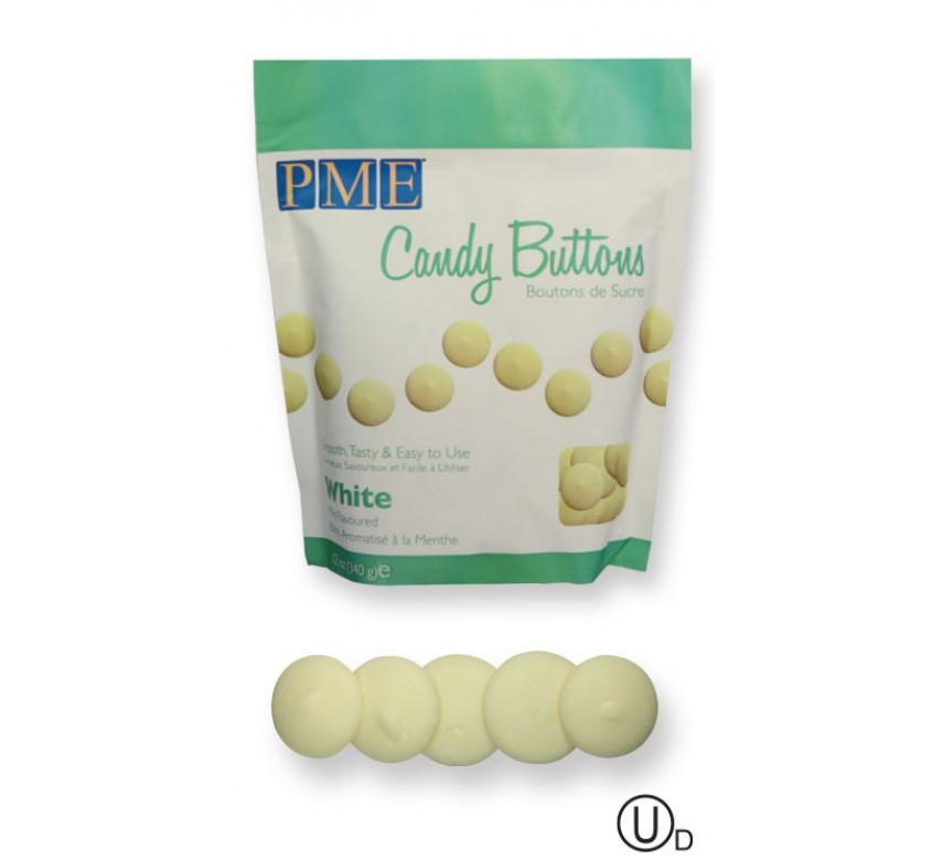 Candy Buttons - hvid vanilje