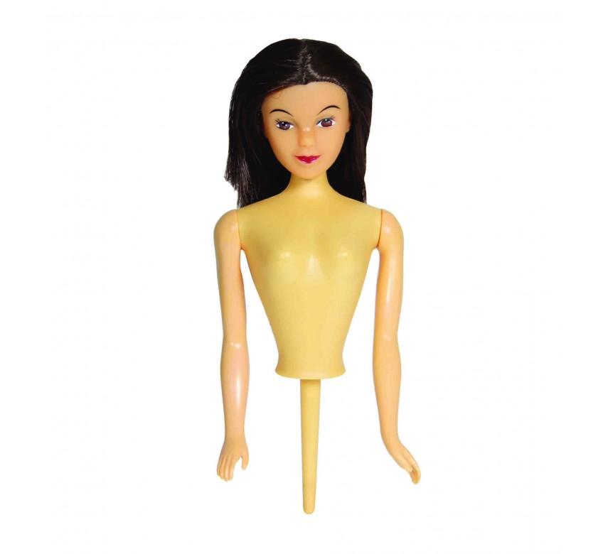 Kagedukke med brunt hår, PME