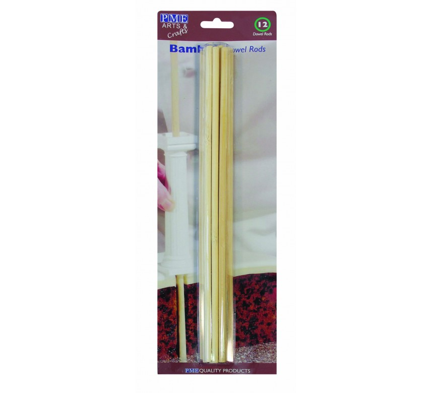 PME Bamboo Dowel Rods Pk/12