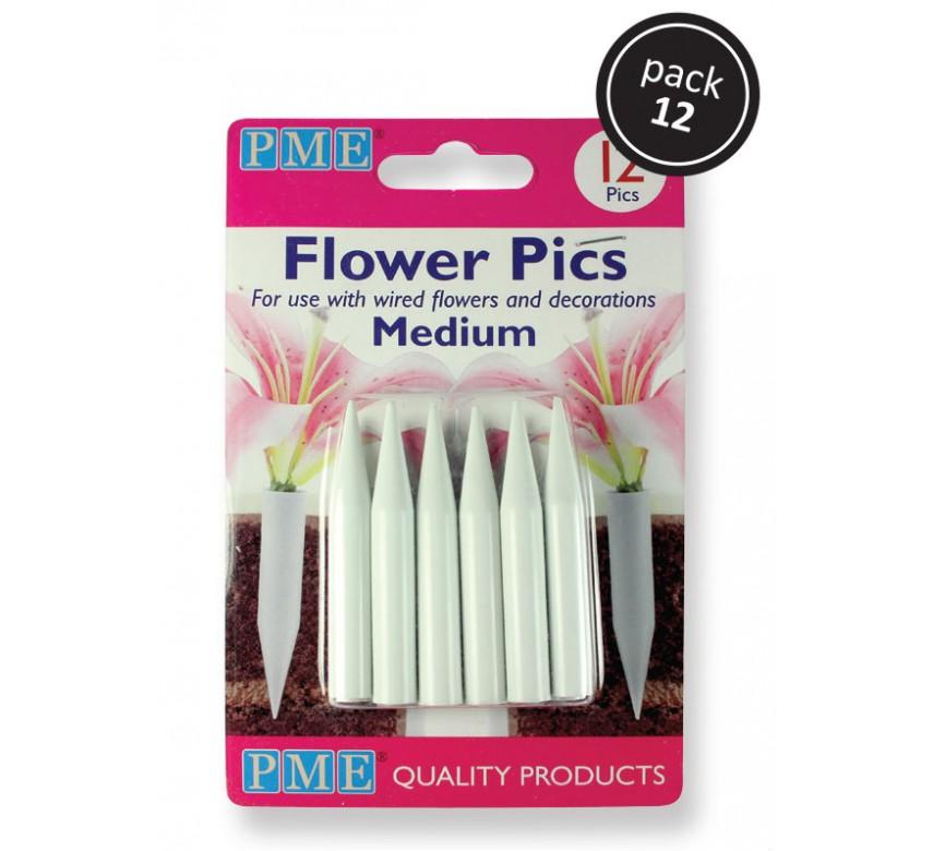 Medium Flower Pics Pk/12