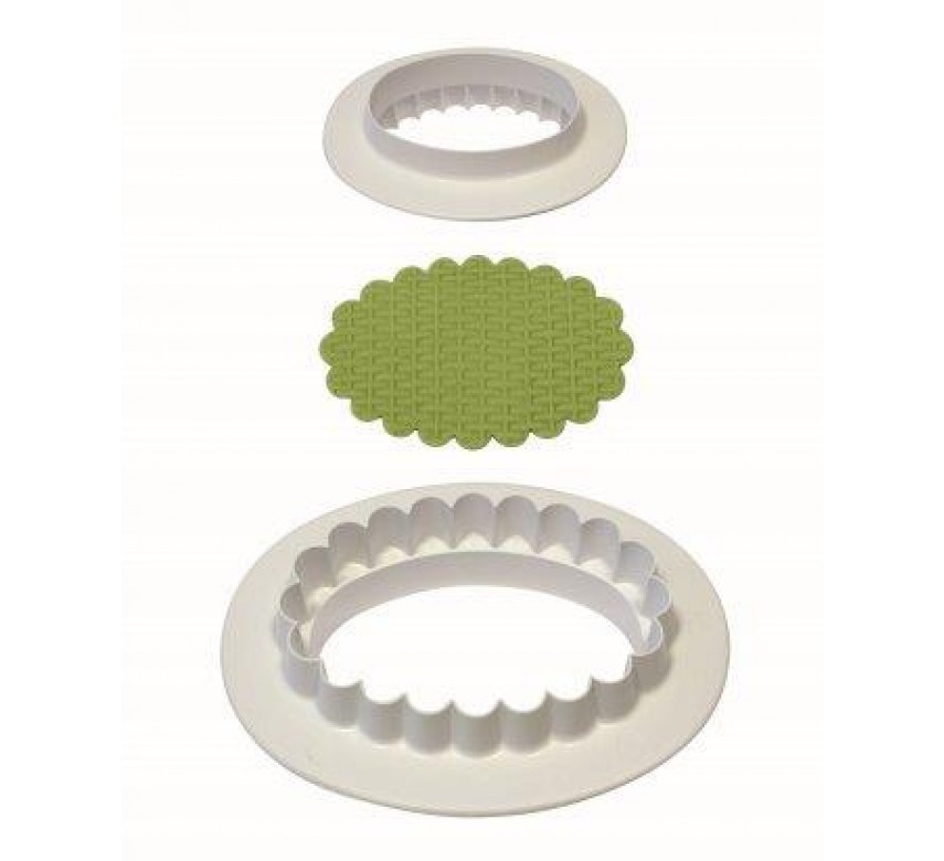 Plain & Fluted Oval Plaque (165mm)