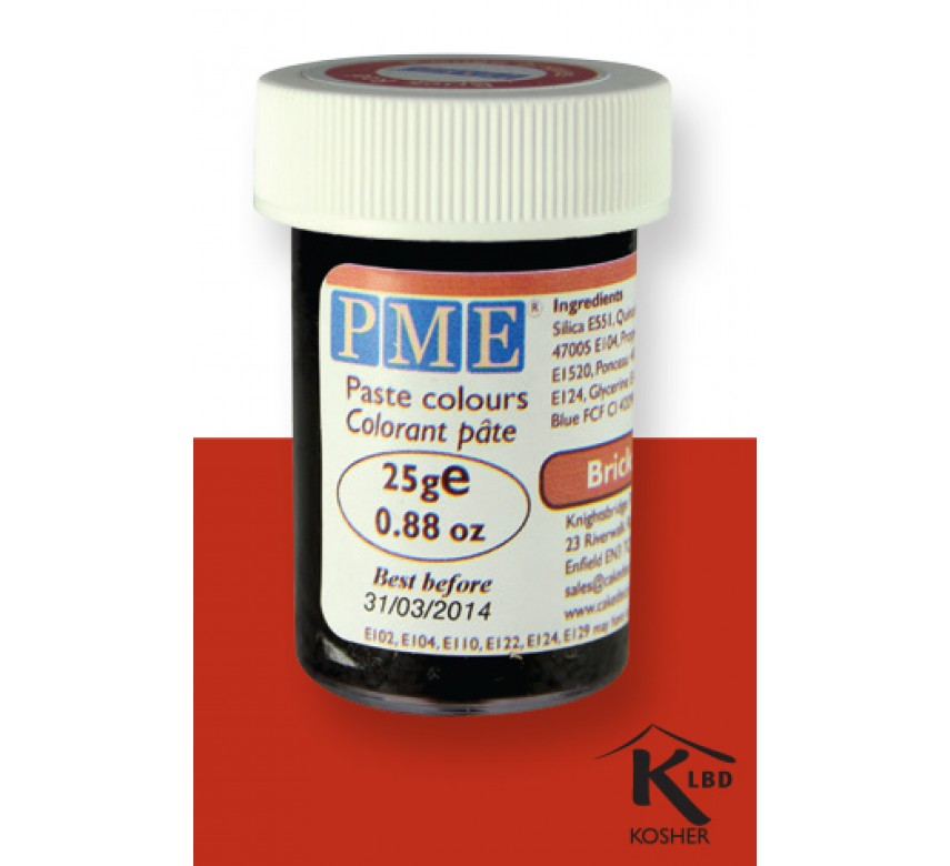 Pasta farver - Brick Red
