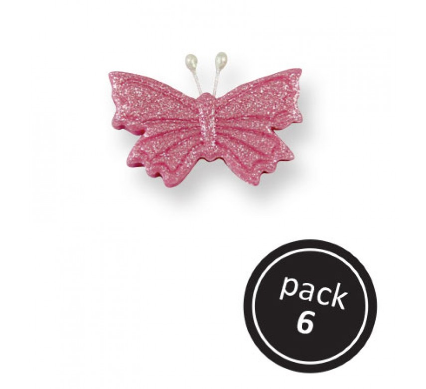 Small Pink Butterfly (6/Pk)