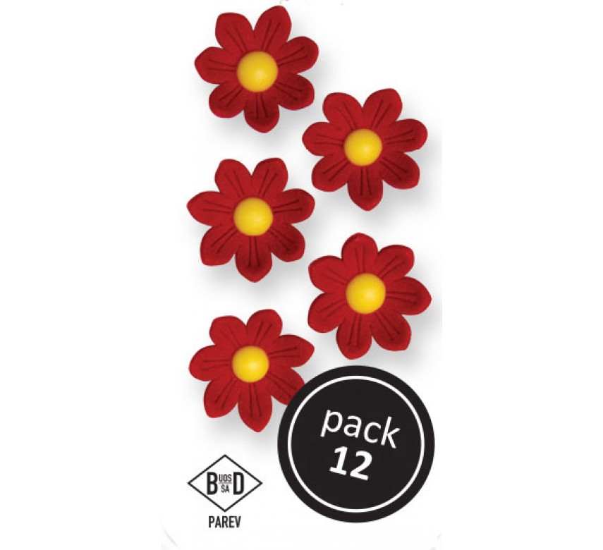 Red Daisies (12/Pk)