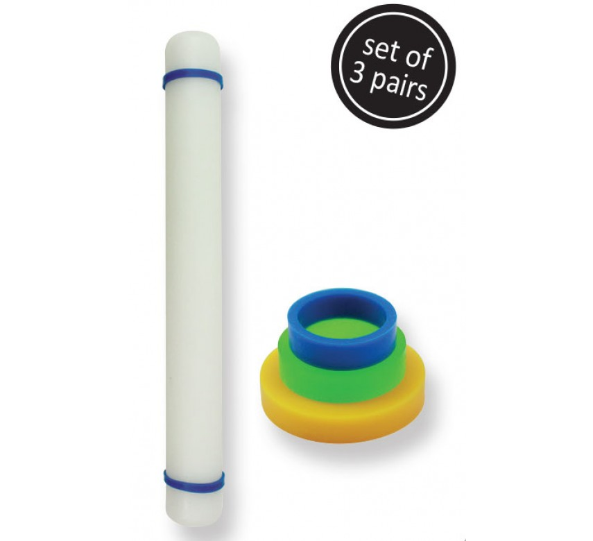 Small Rolling Pin Guide Rings - Set/3