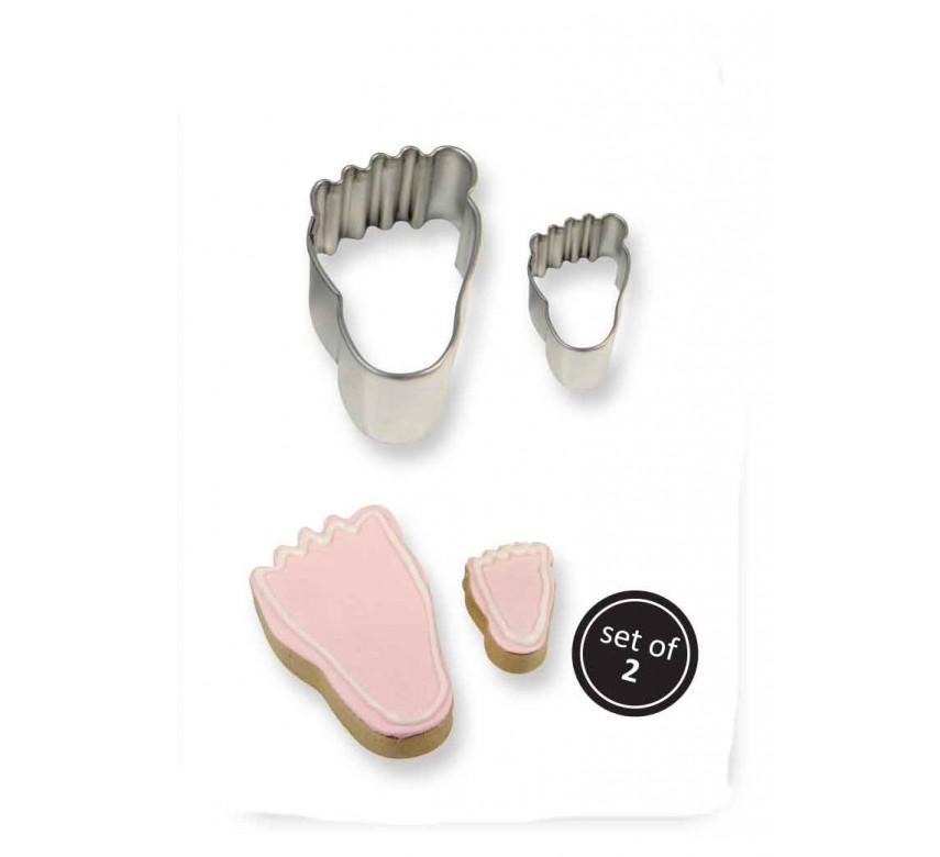 Kageudstikker, fødder, 2 stk., PME