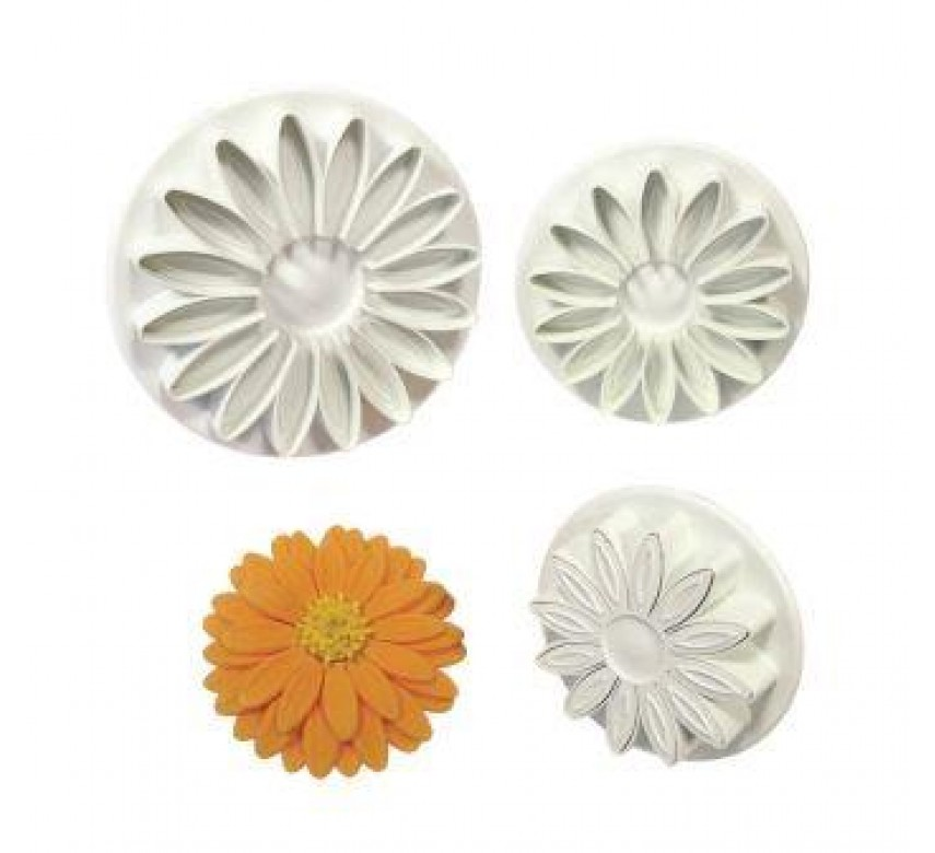 S/M/L Veined Sunflower Daisy Gerbera Cutters Set/3