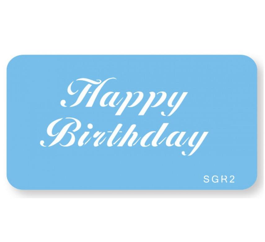 Skabelon, motiv, Happy Birthday.