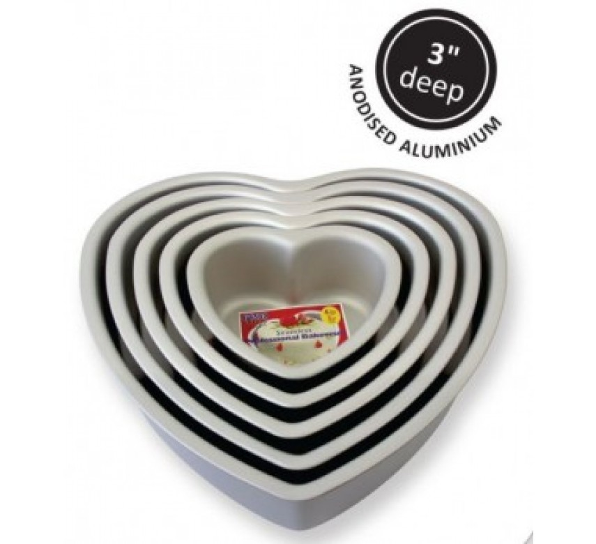 Bageform hjerte, Stor, PME