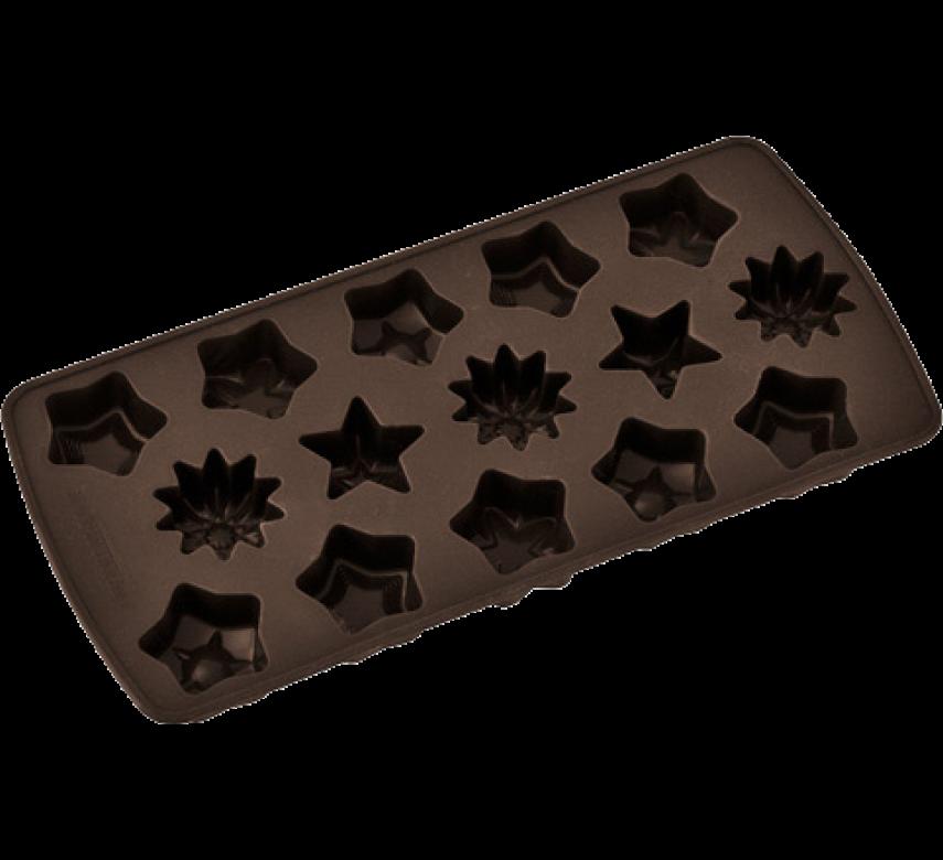 Silikoneform, hjerter eller stjerner, Zenker