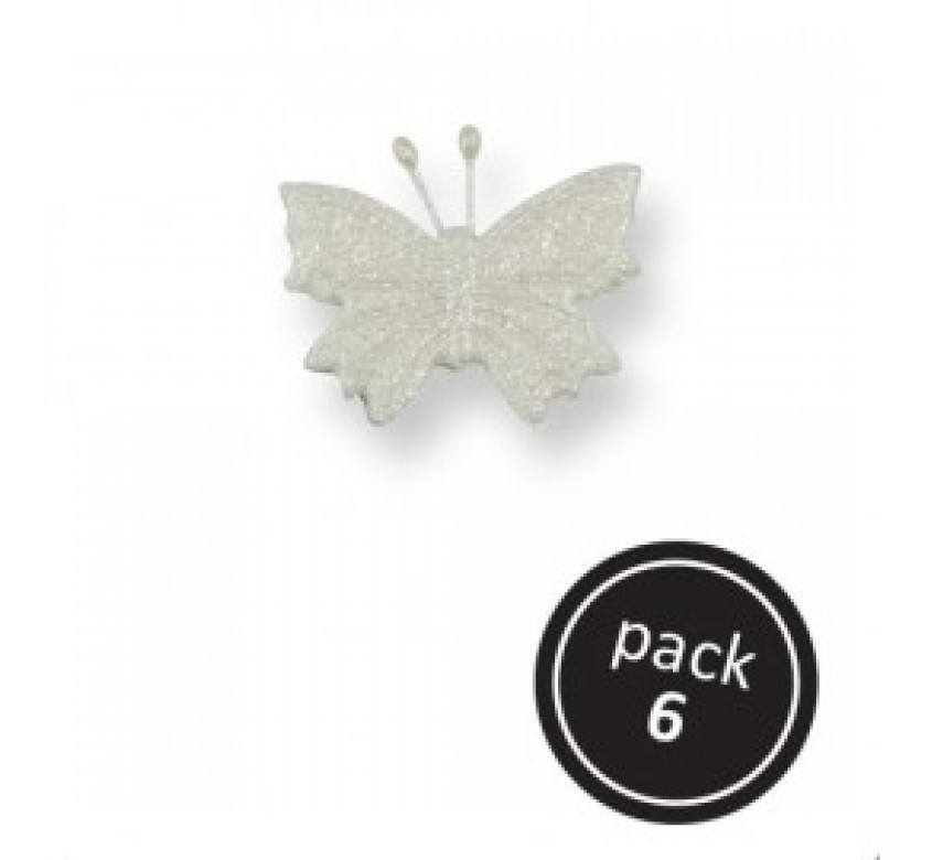 Small Pearl Butterfly (6pk)