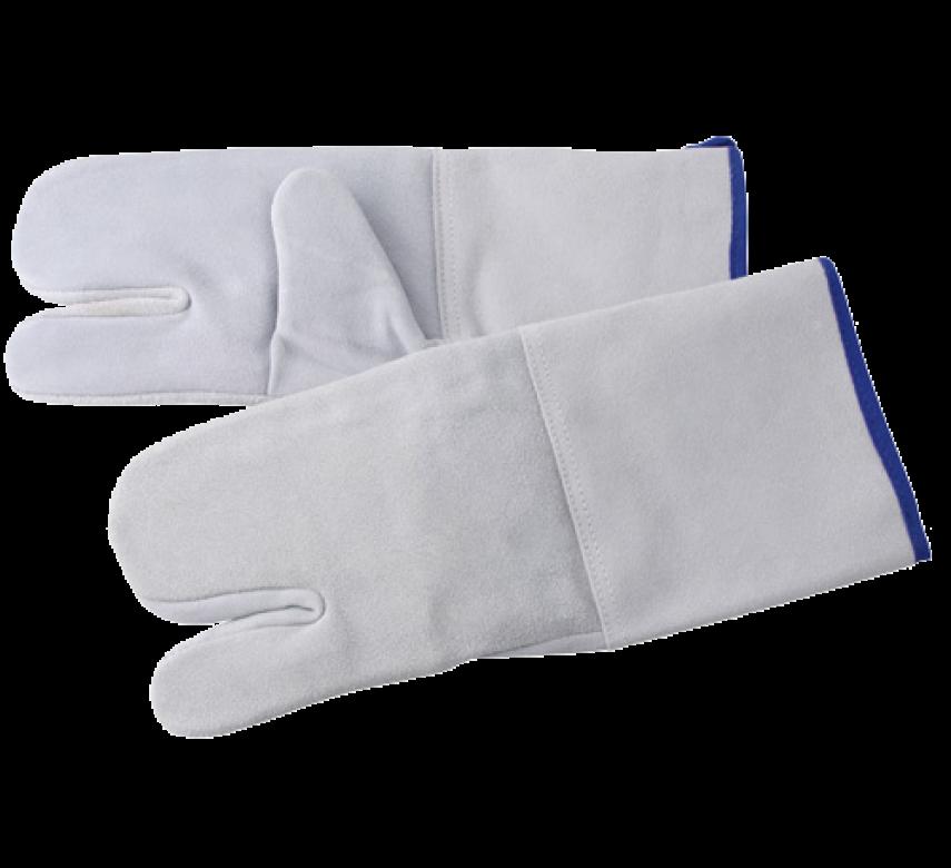 Varmehandske med 3-fingergreb, 2 stk., lysegrå