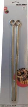 Grillspyd, 6 stk i rustfrit stål, 35 cm. Fackelmann