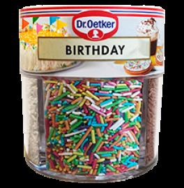 Birthday krymmel. Dr. Oetker